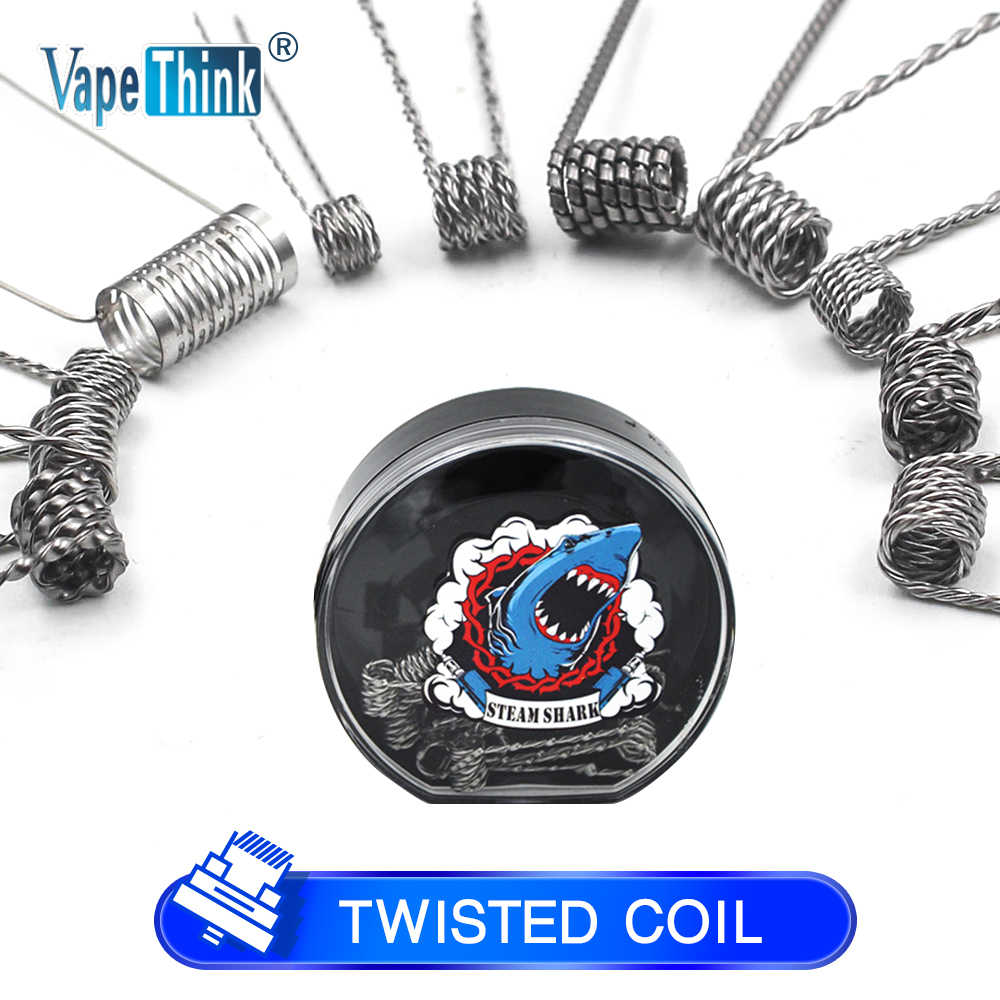 Vapethink Steam Shark Prebuilt Coil Wire Alien Fused Tiger Coil Mix Twisted Flat Twisted for Electronic Cigarette Rda Rta Coil