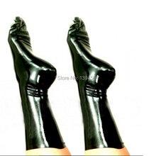 Top Fashion Vrouwen Mannen Unisex handgemaakte Lingerie Sexy Korte Sockings Latex Sokken Fetish Kousen Gratis Verzending XS XXL