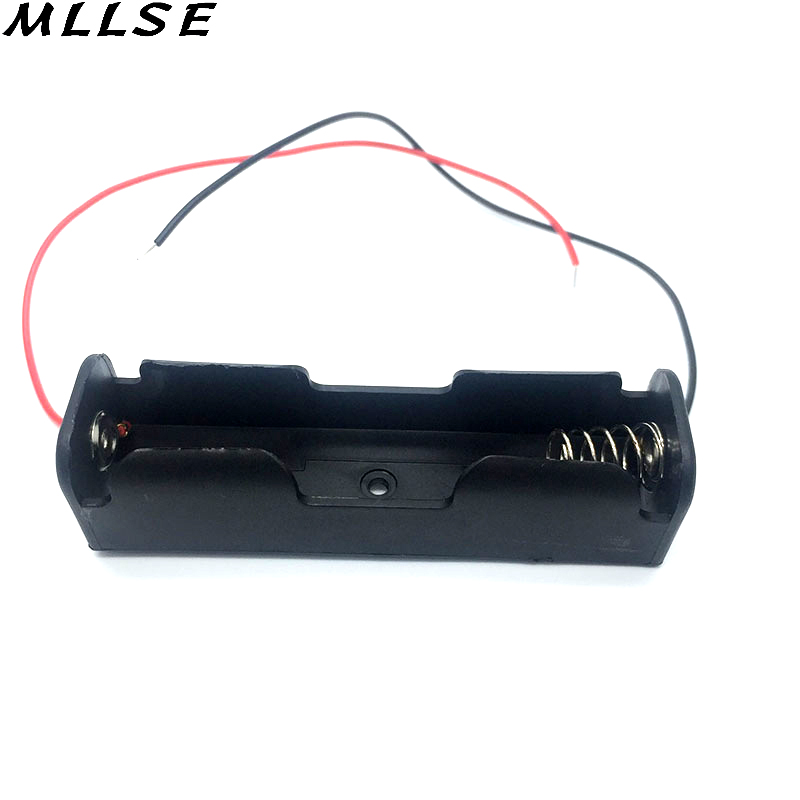 Mllse 2 шт./лот Пластик 18650 Батарея Дело держатель для хранения Box с Провода ведет для 18650 Батареи 3.7 В Черный 18650 батарея В виде ракушки