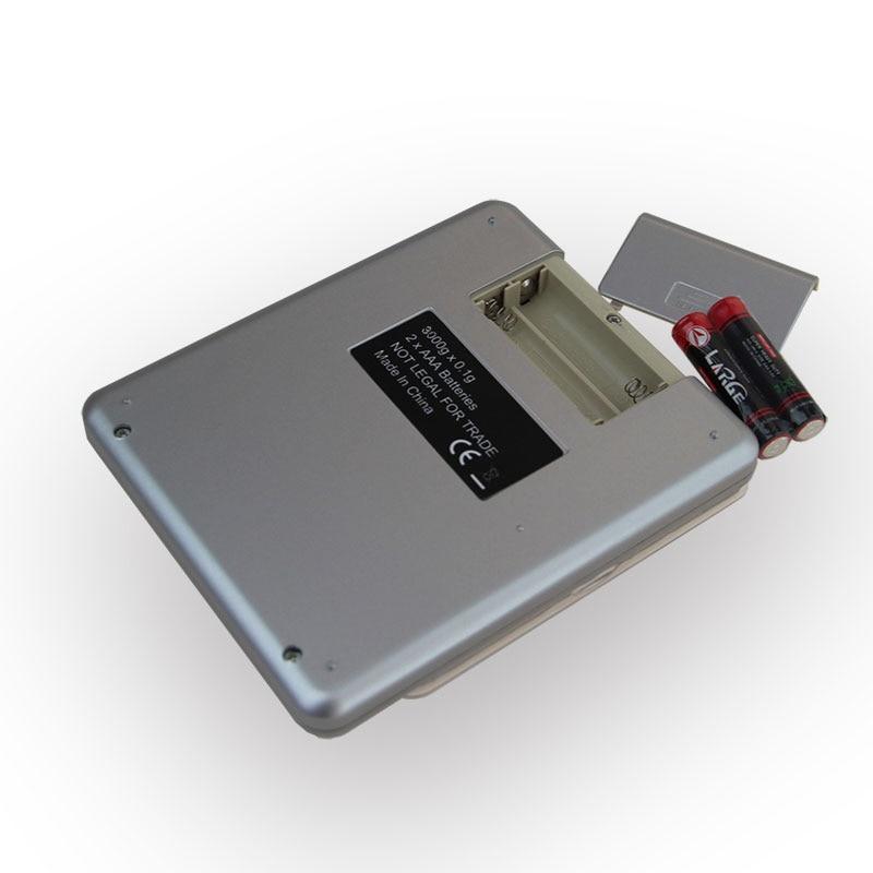 Bilance da cucina 3000g x 0.1g Mini Portable Digital per bilancia - Strumenti di misura - Fotografia 6