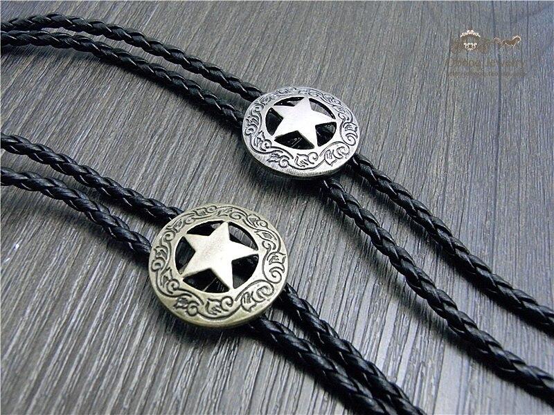 Western Cowboy Star Bolo Tie Rodeo Dance Necktie Bola Tie 1pcs