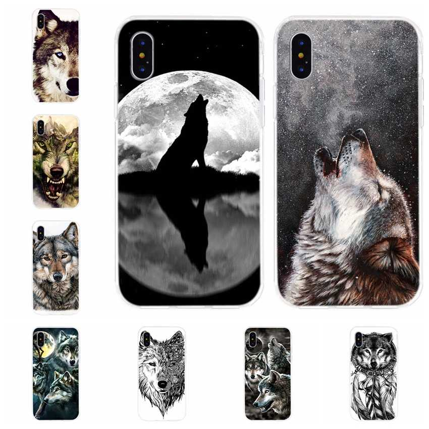 Модный Забавный динамический чехол для телефона с животным волком iPhone 8 7 6 S Plus XS XR