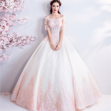 0dcf66401d Buy pink fluffy wedding dress and get free shipping on AliExpress.com