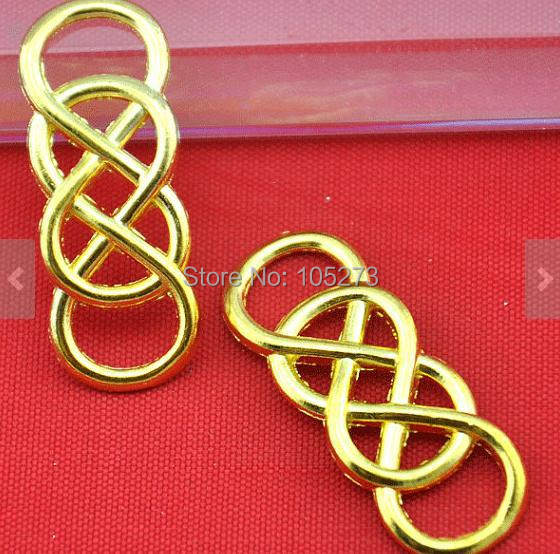 Online Shop French 13x33mm 20pcs Gold Plated Wire Mesh Double