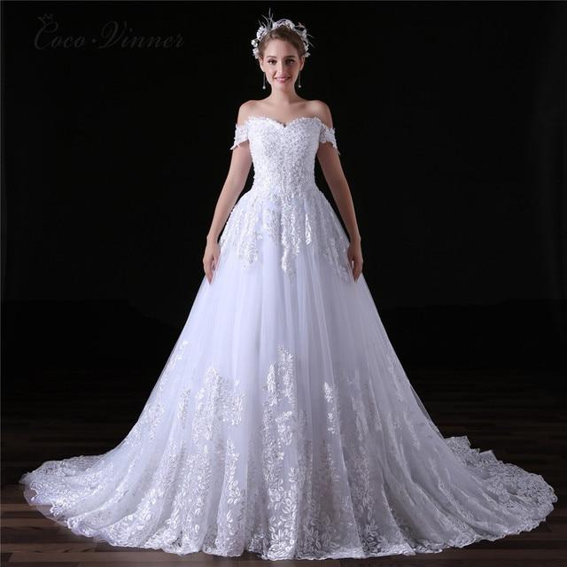 C V Arabic Luxury Lace Ball Gown Short Sleeve Wedding Dress 2018 Gelinlik Sheer Back Princess Illusion