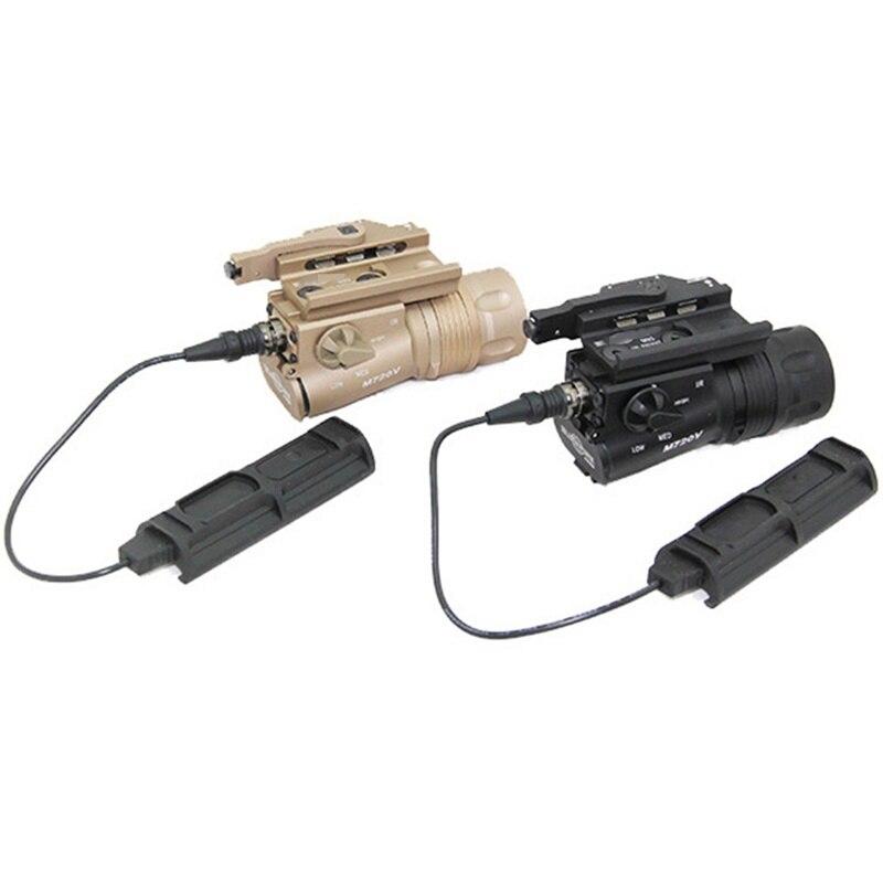 com qd monte strobe lanterna rifle de caca luz arma paintball 05