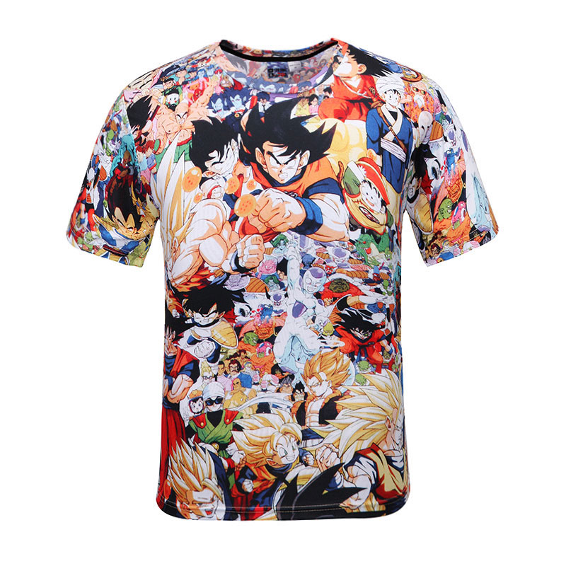 2016 summer cartoon tshirt men women anime camiseta dragon. Black Bedroom Furniture Sets. Home Design Ideas