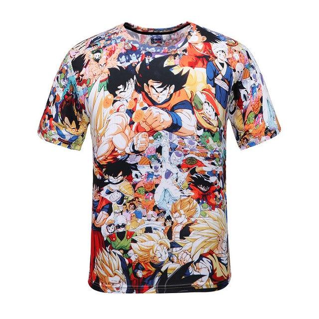 2016 Summer Cartoon tshirt Men/Women Anime Camiseta Dragon Ball funny Print 3d t shirt Unisex Casual T-Shirt Camiseta 3D Hombre