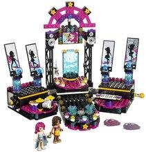 BELA Друзья Серии Поп-Звезда Шоу Этап Строительных Блоков Классический Для Девочки Дети Модель Игрушки Marvel Совместимость Legoe