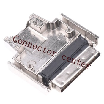 VHDCI SCSI Connector  Crimping Style  Metal Hood 68Pin Male Witch Screw V.68 Connector