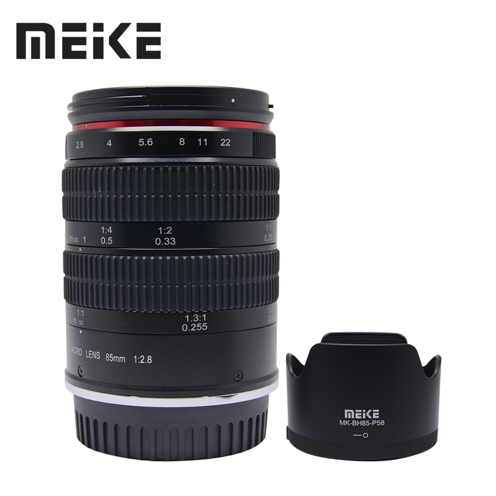 Meike 85mm f2.8 Manual Focus Full Frame Medium Telephoto 1.51 Macro Lens and Portrait Photography for Nikon SLR Cameras flexible stand for still and macro photography black