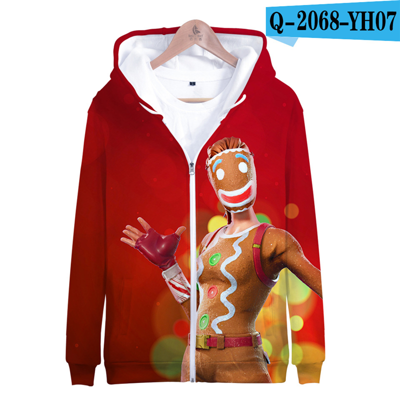 Zipper Fortnited Battle Royale Hoodie Pullover Moletons Hooded Game Clothes Kids Battle Royale Clothes Kid Clothes Kid Clothings