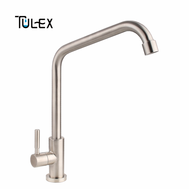 Tulex Cold Water Kitchen Faucet Sus304 Stainless Steel Tap Single