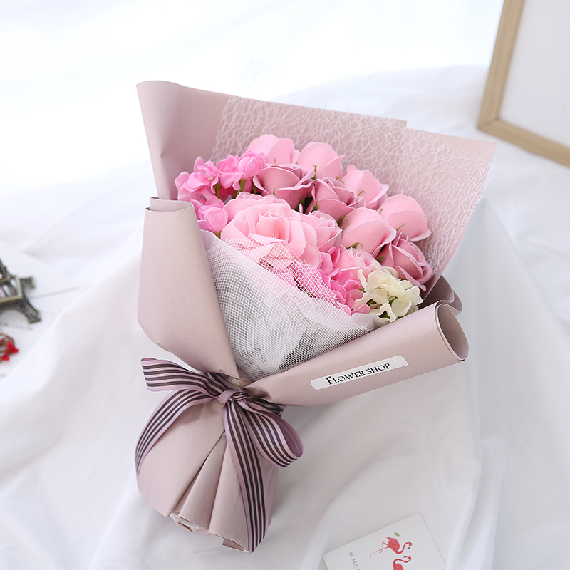Romantic Birthday Girlfriend Girlfriends Rose Soap Flower Gift Soap Flower Bouquet Creative Gratitude Teacher S Day Gifts Artificial Dried Flowers Aliexpress