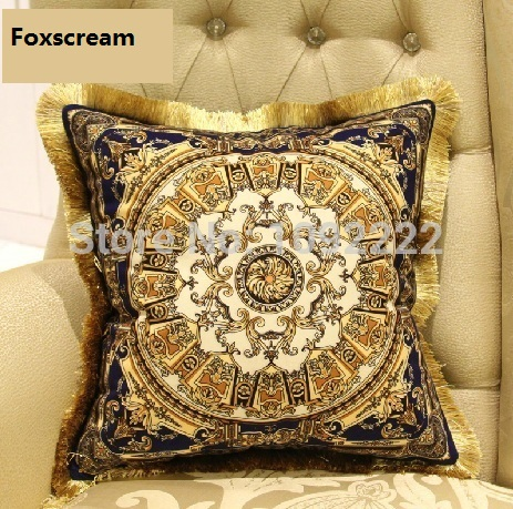 gold cushions velvet brand luxury pillow cushion decorative silk decorative pillowsilver throw pillows european cushion cover - Gold Decorative Pillows
