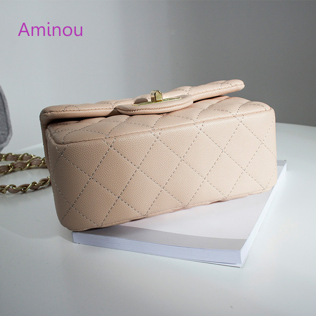 Aminou Luxury Handbags Women Shoudlder Bags Designer 2017 For Teenager Small Messenger Bags Diamond Lattice Chain Bolsas 2