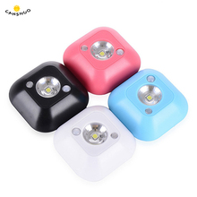 CANSHOU LED Sensor Night Light Dual Induction PIR Infrared Motion Sensor Lamp Magnetic Infrared Wall Lamp Cabinet Stairs Lights