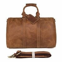 7077B Высокое качество Crazy Horse кожа JMD сумка для путешествий огромный чемодан сумка 18