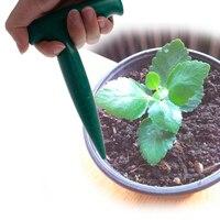 OOTDTY Cavando Buraco Ferramenta Dibber Jardim Bonsai Flor De Plástico Verde Plantio de Mudas De Capina Para Seedstarting  Plantio  Capina