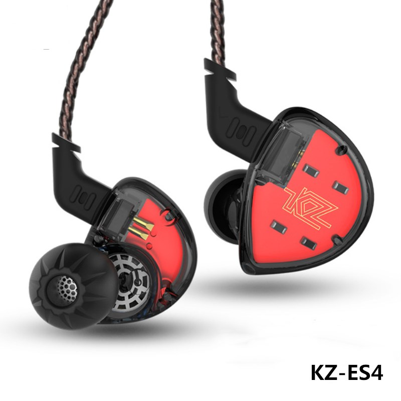 KZ ES4 Hybrid Earphone HIFI Stereo Armature And Dynamic Earbuds in Ear Monitor DJ Headset for Xiaomi/iPhone/Samsung MP3 Players