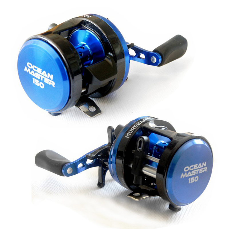 8BB Magnetic Force Brake Boat Fishing Reel Cast Drum Wheel Lure Reel Baitcasting Fish Reel Left Right Handle Salt Waterproof new 12bb left right handle drum saltwater fishing reel baitcasting saltwater sea fishing reels bait casting cast drum wheel