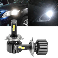 New 2 Pcs DC 9 36V H4 COB 120W LED Car Headlight Kit Hi/Lo Beam Bulbs 6000K