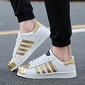 2016 Gold Fashion Breathable Women Casual Shoes Basket Femme Flats Tenis Feminino Homme Trainers Zapatillas Deportivas Mujer