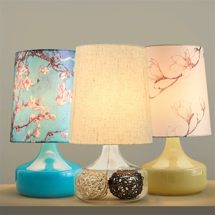 Nordic Office LED Table Lights Resin Bedroom Bedside Reading Table Lamps Fabric Lampshade Living Room Desk Lamps Decor Lighting retro luxury peacock led table lamps cloth lampshade for bedroom living room lighting e27 110 220v desk lights