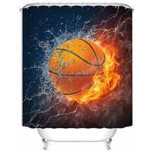 VIXM Waterproof Shower Curtains Bathroom Basketball
