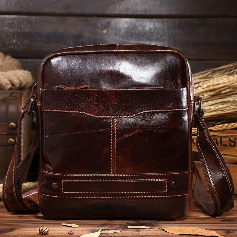 0068,Guaranteed genuine leather Mens Briefcase men messenger bags Business travel bag man leather vintage men shoulder bag