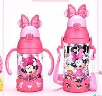 Disney Kinder Drücken Sie Die Tassen Griff Baby Mit Stroh dicht Tritan Sport Flaschen flip Student Widerstand Zu Fallen wasserkocher