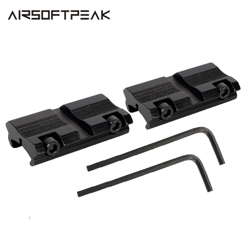 2pcs/Set Hunting Rifle Gun Scope Mounts Base Tactical 11mm Dovetail To 20mm Weaver Picatinny Rail Adapter Mount Gun Accessory