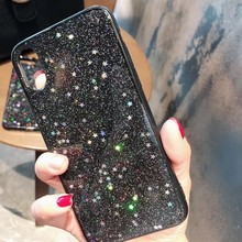 Luxury Bling Glitter Case for iPhone 8 Plus For X XR XS Max 7 6 6S Back Cover Star Crystal Sequins Soft case