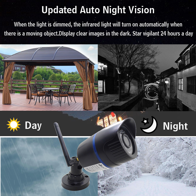HTB1XIZyKYPpK1RjSZFFq6y5PpXas IP Camera Wifi 720P 960P 1080P HD Wireless Cctv Security Indoor Outdoor Waterproof Audio IPCam Infrared Home Surveillance Camera