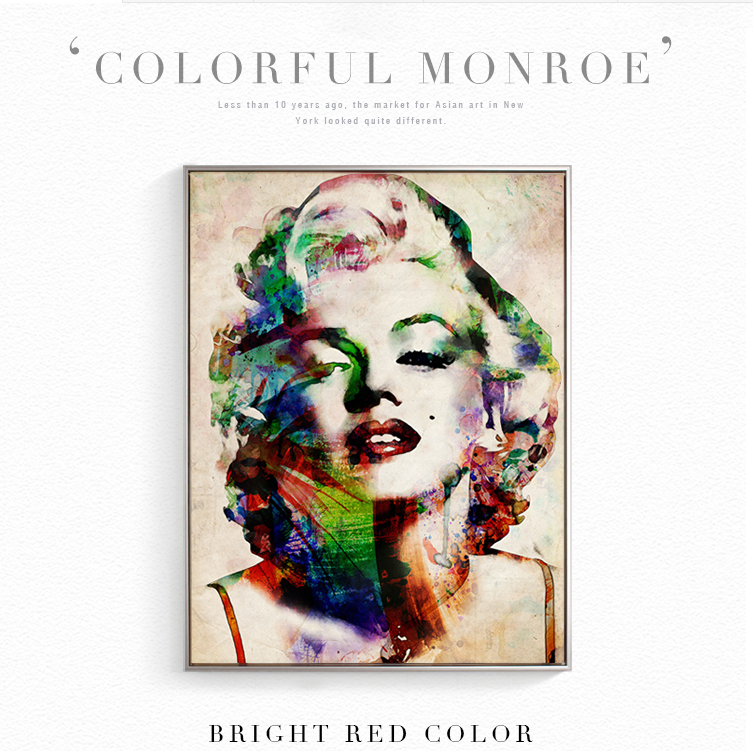 Colorful Marilyn Monroe Sexy Actress Poster Canvas Wall Room Decoration Combined Poster image