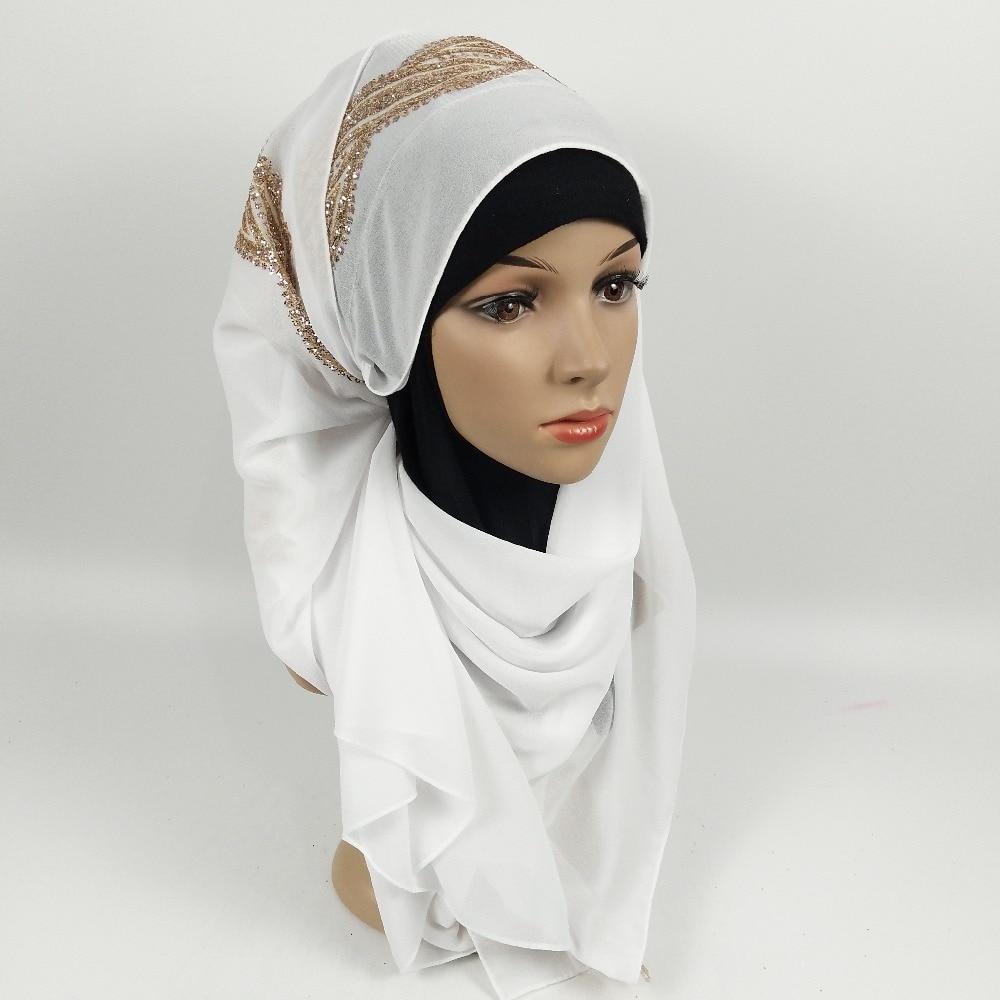J9 High quality glitter lace bubble chiffon hiajb scarf wrap shawls long wrap headband 180*75cm 10pcs/lot