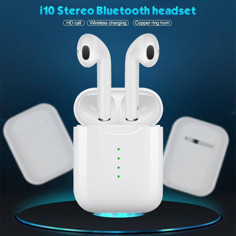 I10 Tws Bluetooth écouteurs sans fil tête téléphones casque 3D stéréo in-ear écouteurs avec boîte de charge pour iPhone et Android PK i7