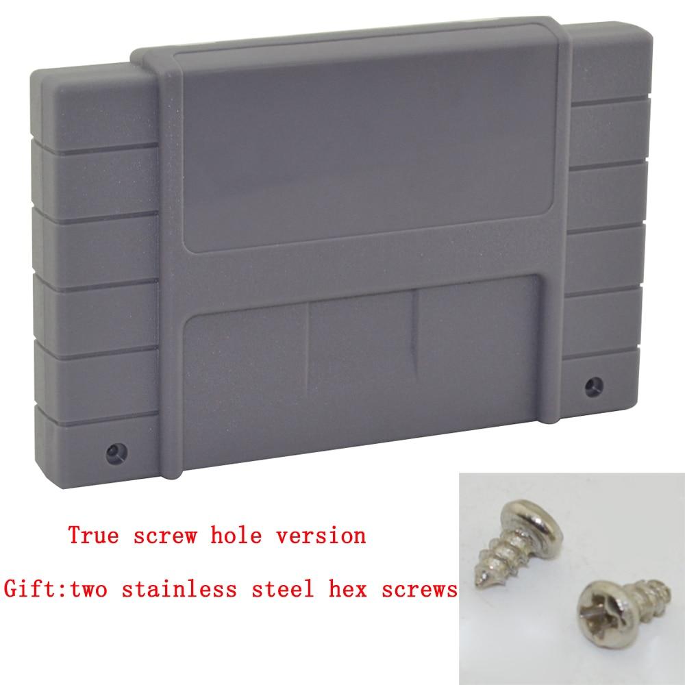 100 pz un sacco Game Cartuccia di Ricambio Shell di Plastica con 2 viti per SNES100 pz un sacco Game Cartuccia di Ricambio Shell di Plastica con 2 viti per SNES