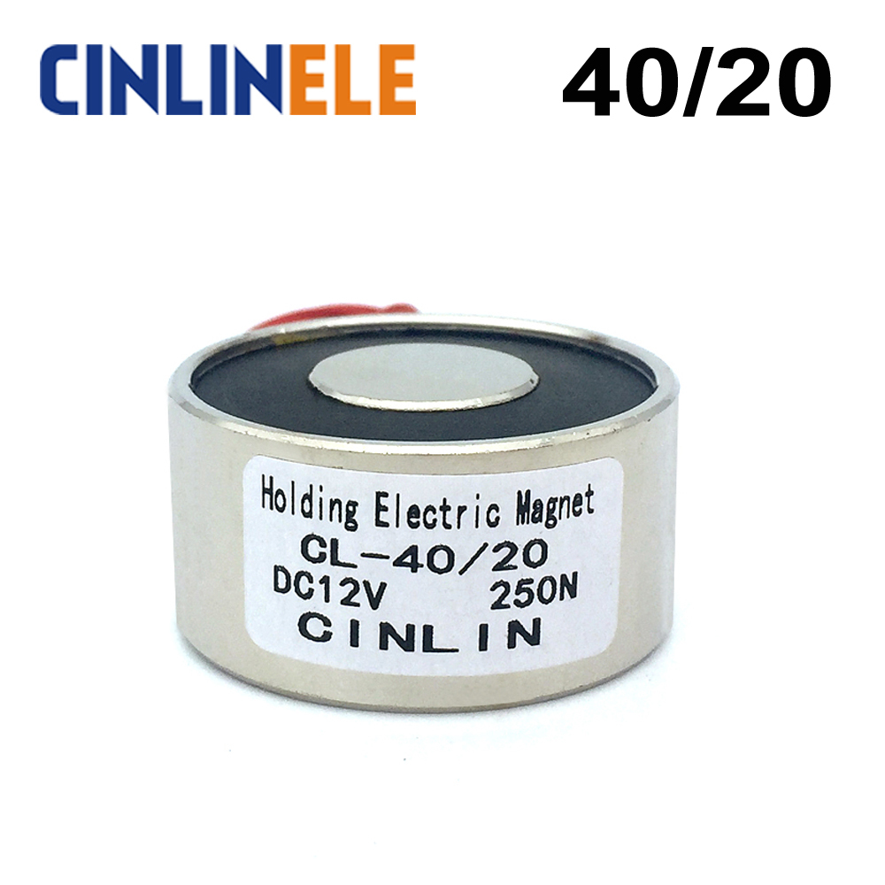 цена на CL-P 40/20 Holding Electric Magnet Lifting 25KG/55lbs/250N Solenoid Sucker Electromagnet DC 6V 12V 24V Non-standard custom