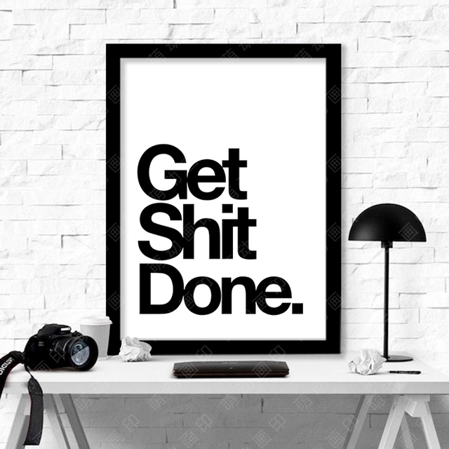 new cuadros get shit done wall pictures for living room canvas art wall art canvas painting