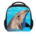 Forudesigns nueva moda 3d animales de zoológico mochila para adolescentes delfín lindo niños mochilas escolares mochila impresión del leopardo
