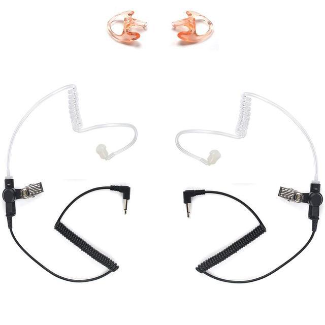 3.5mm Police Listen Only Acoustic Tube Earpiece with One Pair Medium Earmolds for Speaker Mics