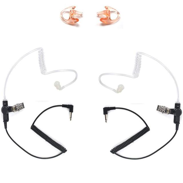 3.5mm משטרת להקשיב רק אקוסטית צינור אפרכסת עם זוג אחד בינוני שני בדרך עבור מיקרופוני רמקול