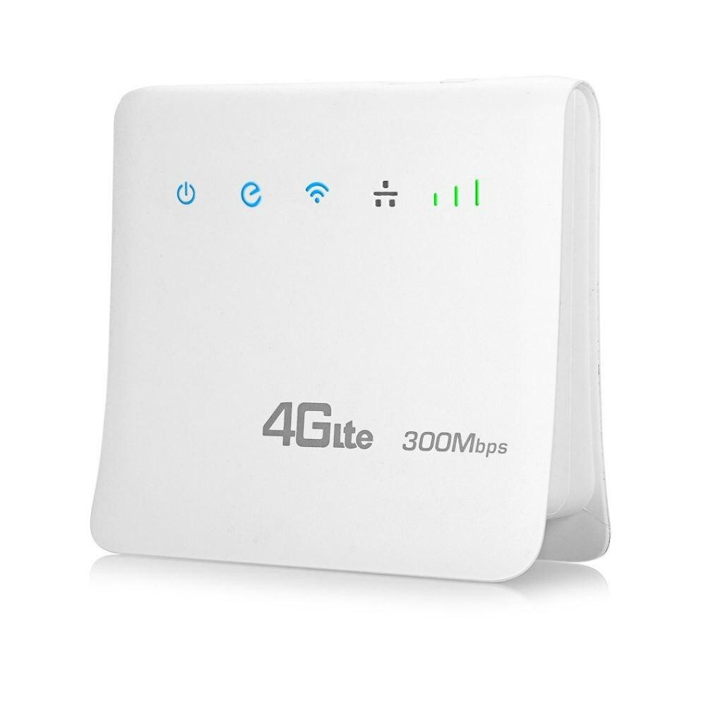 Desbloqueado 300Mbps Wi-fi Roteadores 4G lte cpe Router com Porta LAN Suporte Móvel cartão SIM Roteador Sem Fio Portátil wi-fi 4G Router