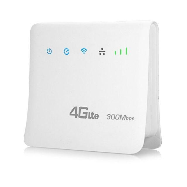 Enrutador Wifi desbloqueado de 300mbps, enrutador móvil 4G lte cpe con puerto LAN compatible con tarjeta SIM, enrutador inalámbrico portátil, enrutador wifi 4G