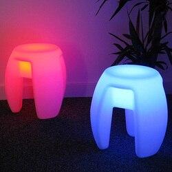 Открытый водонепроницаемый 40 см светящийся перезаряжаемый светящийся куб светодио дный кофе барный стул барные стулья дистанционный пуль...