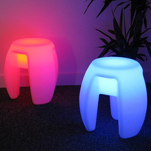 Outdoor waterproof 40cm Glowing Rechargeable luminous cube led coffee bar chair barstools remote control free shipping 4pcs/Lot