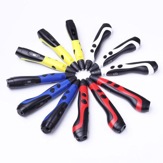 Stylo 3d jaune blanc rouge bleu avec filament abs 3 d regalos originales USB caneta 3d lapiz 3d pour enfants cadeaux de noël