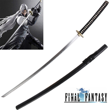 Long swords 56 Inch Sephiroth Sword For Theme Game Finall Fantasy Japanese Katana Anime Blade with Black Saya Decorative markus sesko encyclopedia of japanese swords paperback