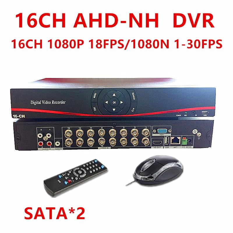 AHD H DVR 16Channel CCTV AHDH DVR 16CH 1080P 720P 960H DVR Video Recorder For AHD